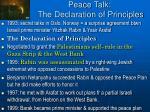 peace talk the declaration of principles