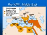 pre wwi middle east