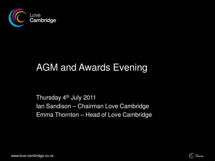 agm and awards evening n.