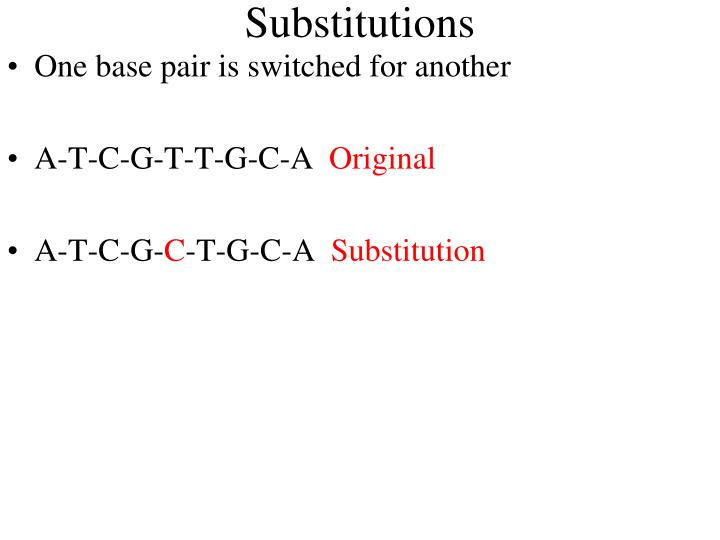 Substitutions