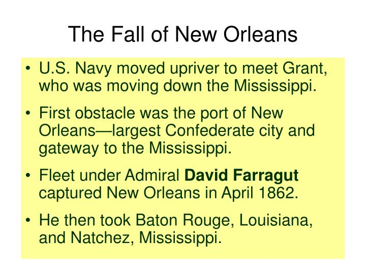 The Fall of New Orleans