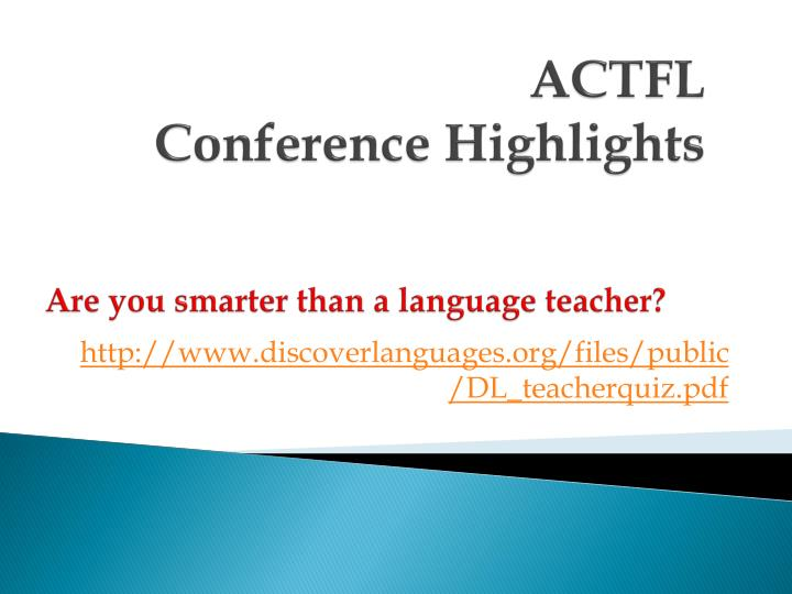 actfl conference highlights n.