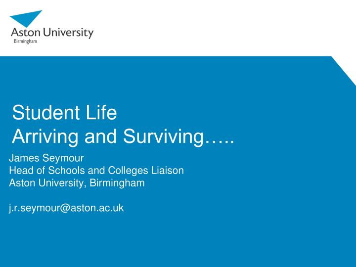 student life arriving and surviving n.