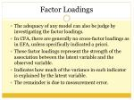 factor loadings