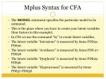mplus syntax for cfa7