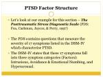 ptsd factor structure