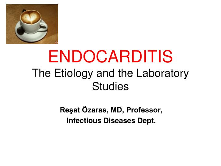 endocarditis the etiology and the laboratory studies n.