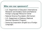 who are our sponsors
