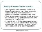 binary linear codes cont3