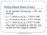 parity check sums cont1