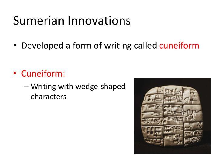 Sumerian Innovations