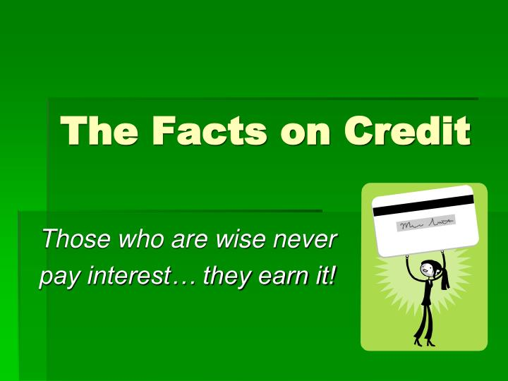 the facts on credit n.