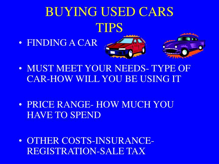 buying used cars tips n.