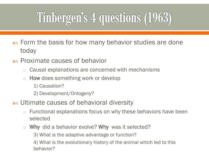 Tinbergen's 4 questions (1963)