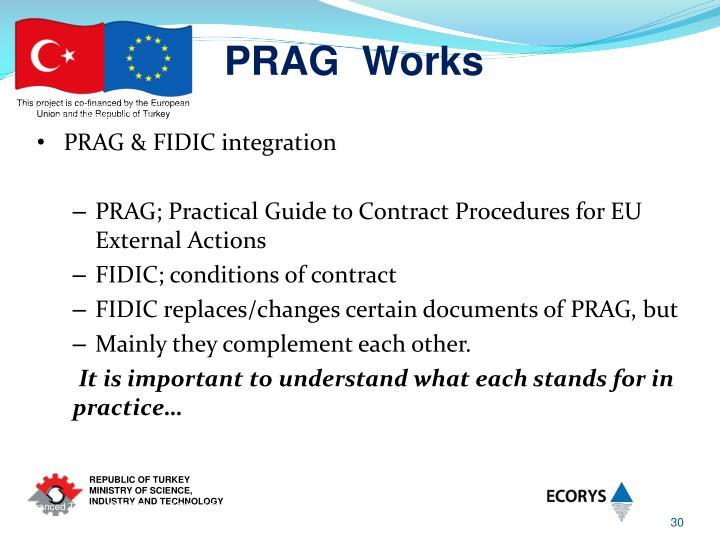 Advanced Training PRAG Works 5-7 April 2011