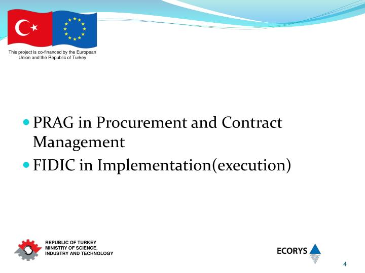 PRAG in Procurement and Contract Management