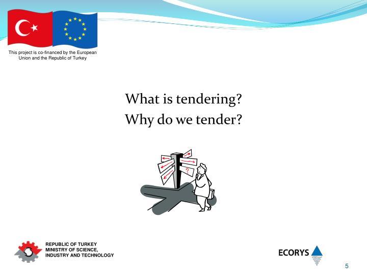 What is tendering?