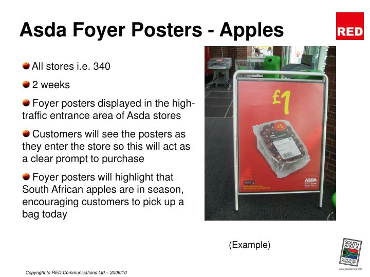 Asda Foyer Posters - Apples