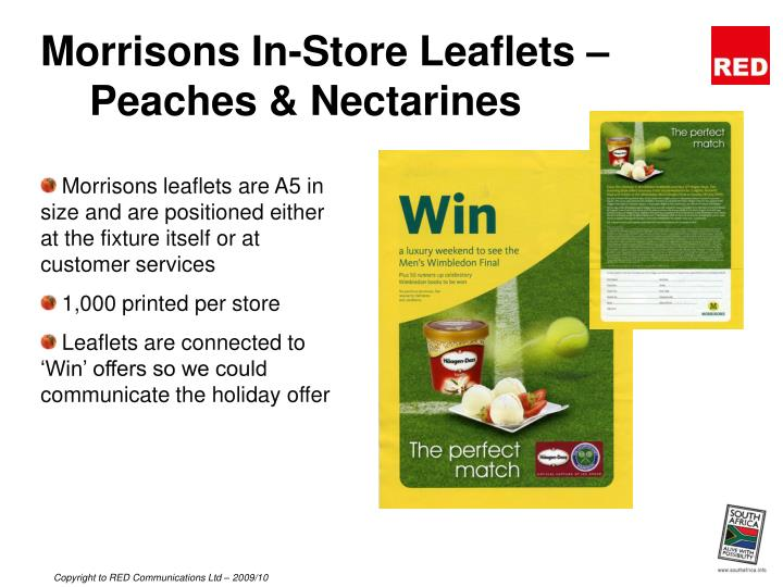 Morrisons In-Store Leaflets – Peaches & Nectarines