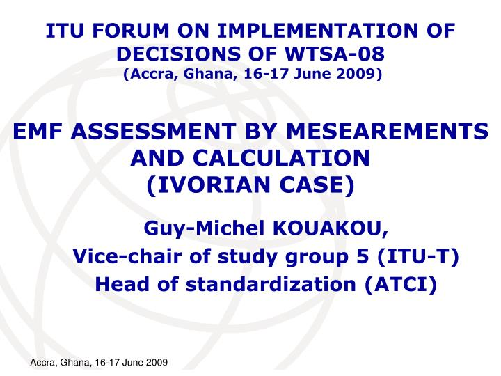 emf assessment by mesearements and calculation ivorian case n.