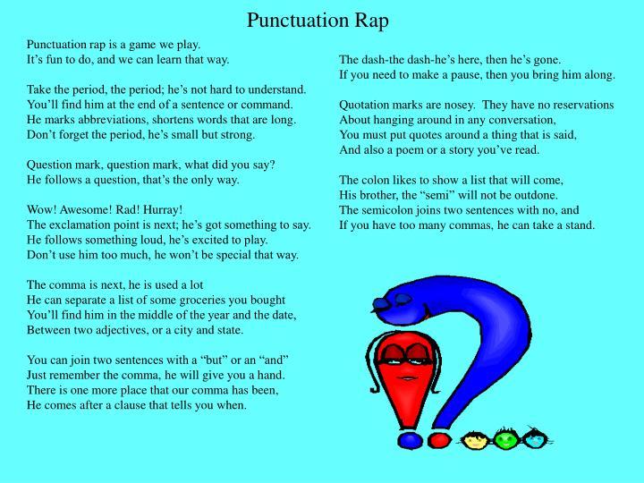 Punctuation Rap