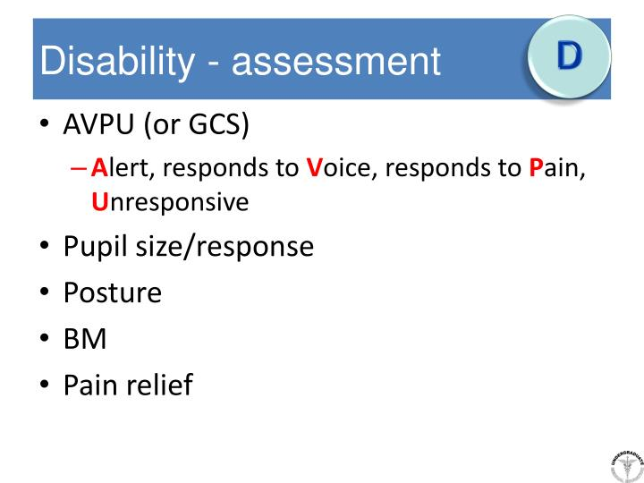 Disability - assessment