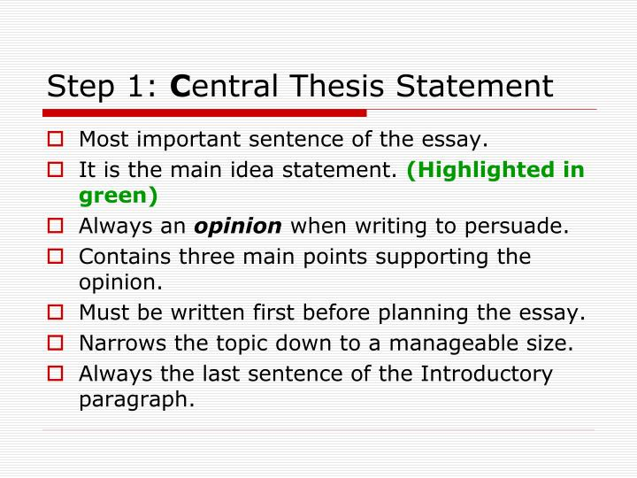 Do research papers need a thesis statement