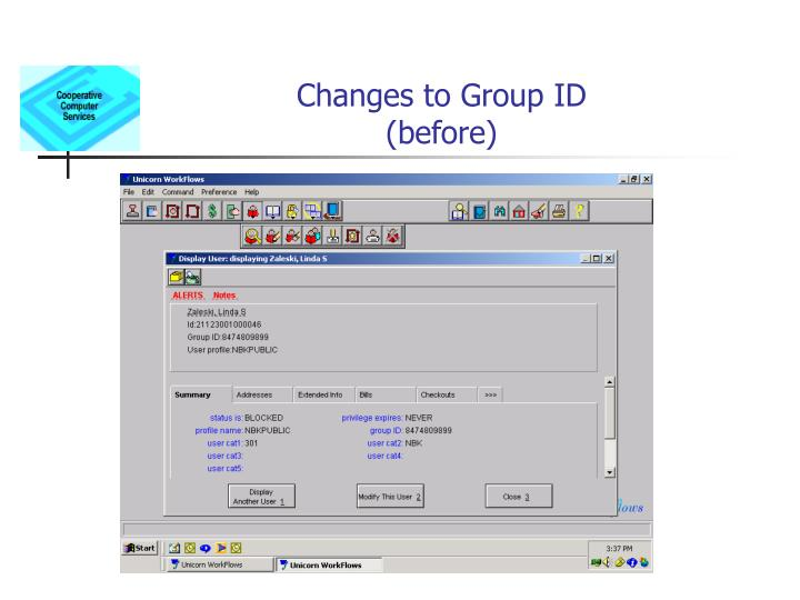 changes to group id before n.