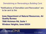 demolishing or renovating a building cont2