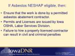if asbestos neshap eligible then