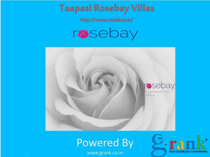 Taapasi Rosebay Villas