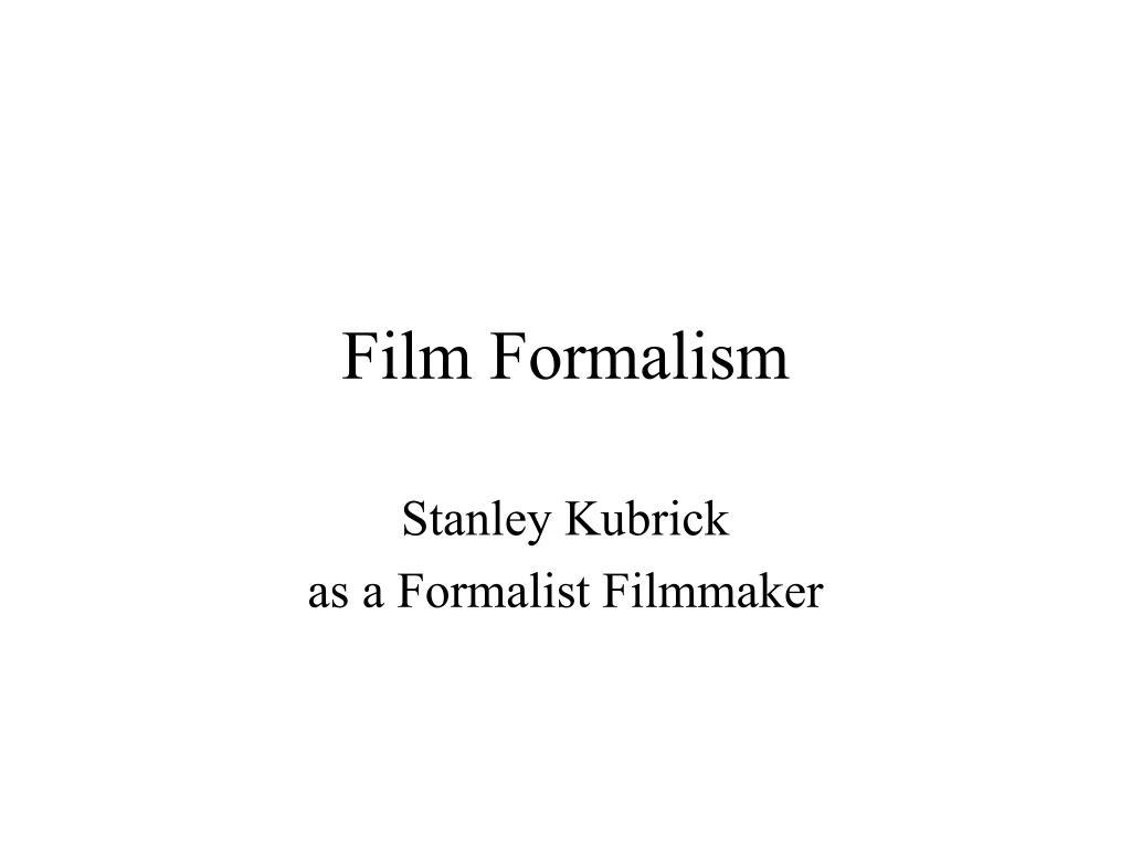 formalism in film
