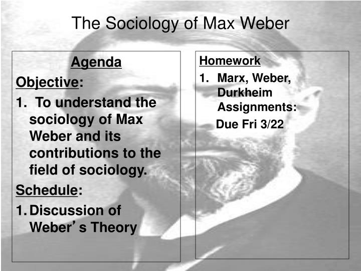 marx and weber theories