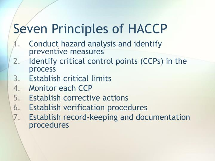 PPT HACCP PowerPoint Presentation ID 5330742