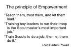 the principle of empowerment1