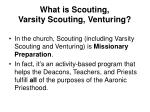 what is scouting varsity scouting venturing