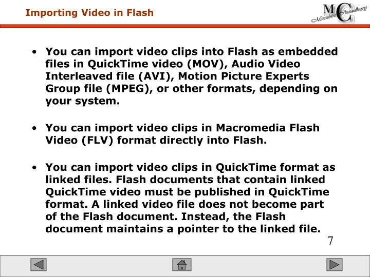 Importing Video in Flash