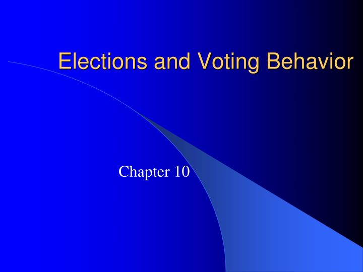 elections and voting behavior n.