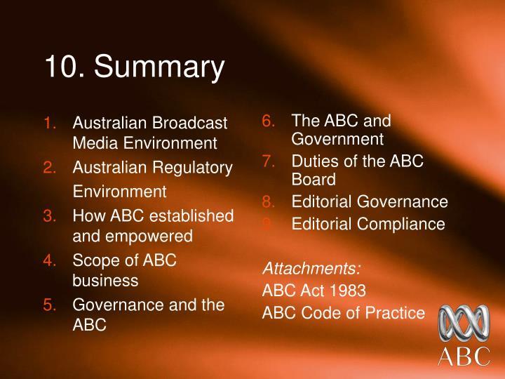 Australian Broadcast Media Environment