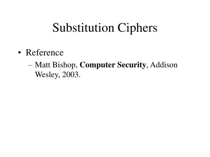 substitution ciphers n.