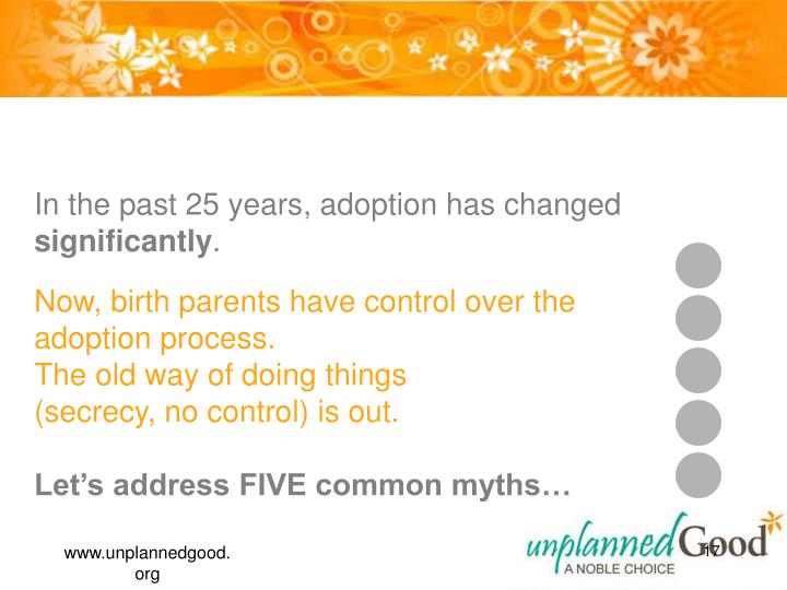 BTW, Adoption is an Option