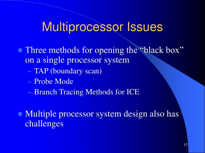 Multiprocessor Issues