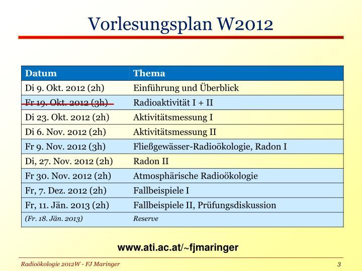 Vorlesungsplan w20121