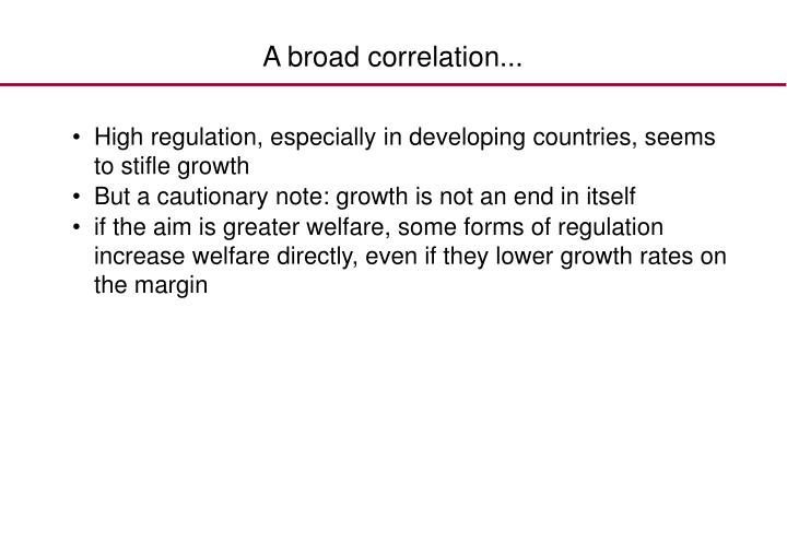 A broad correlation...