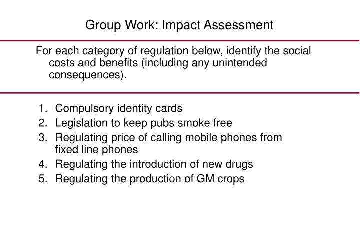 Group Work: Impact Assessment