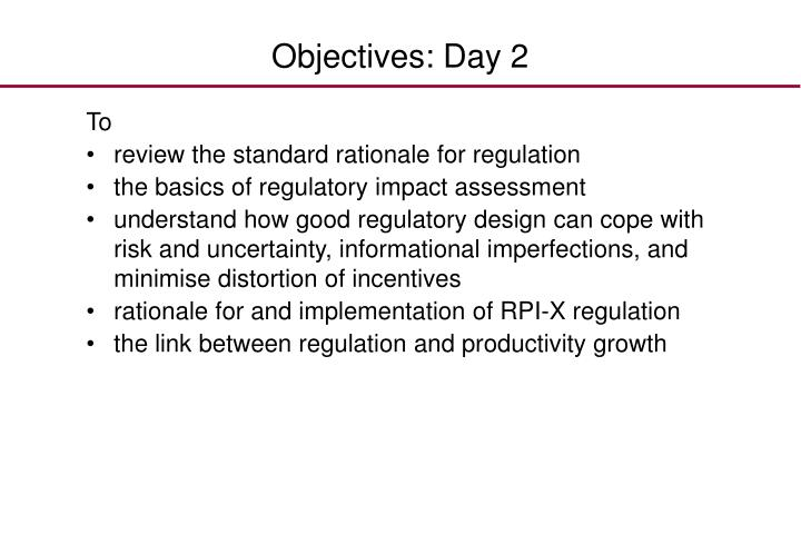 Objectives: Day 2