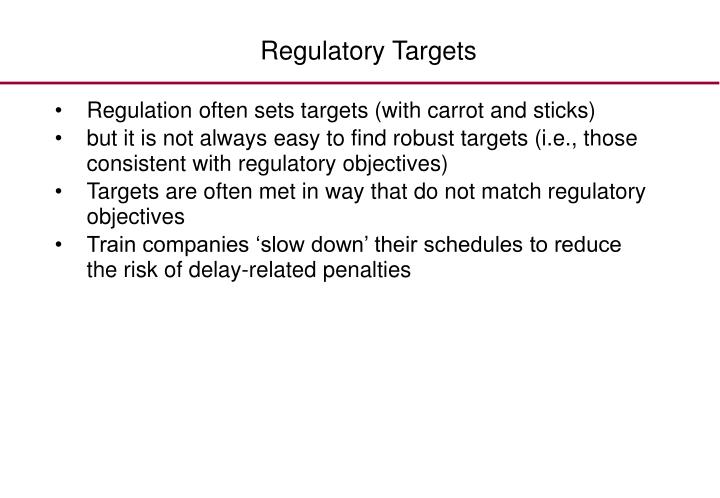 Regulatory Targets