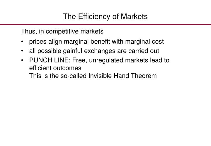 The Efficiency of Markets