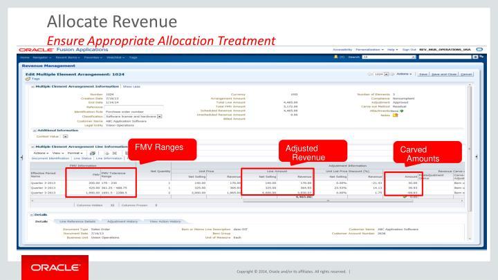 Allocate Revenue