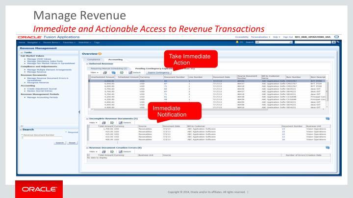 Manage Revenue